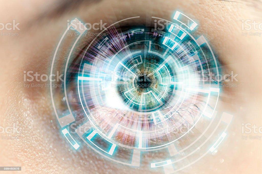 futuristic eye stock photo