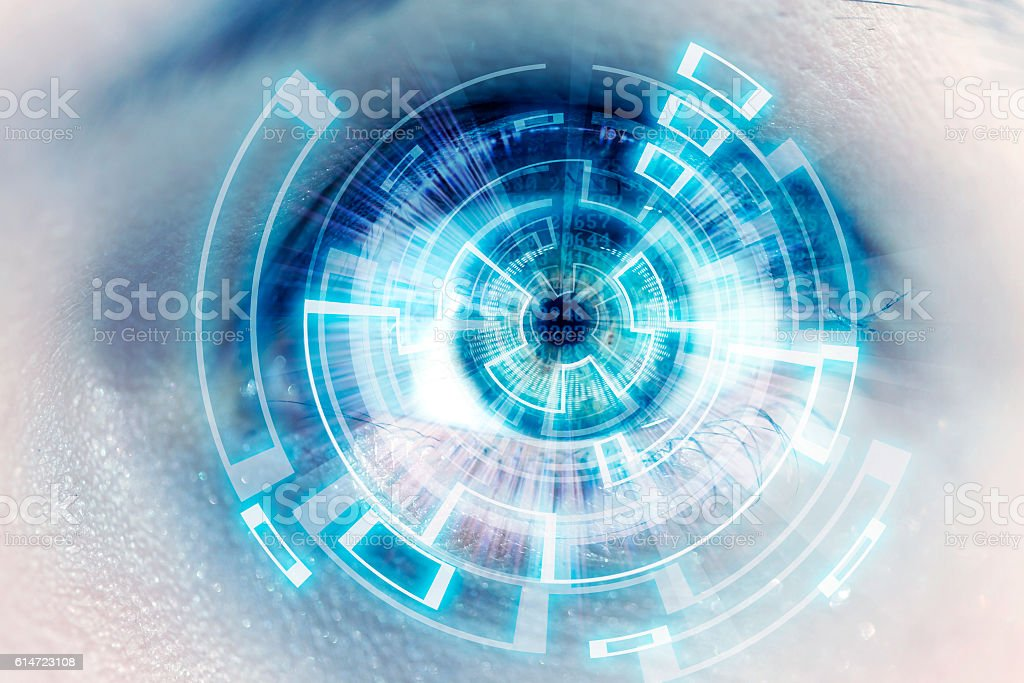 futuristic eye stock photo