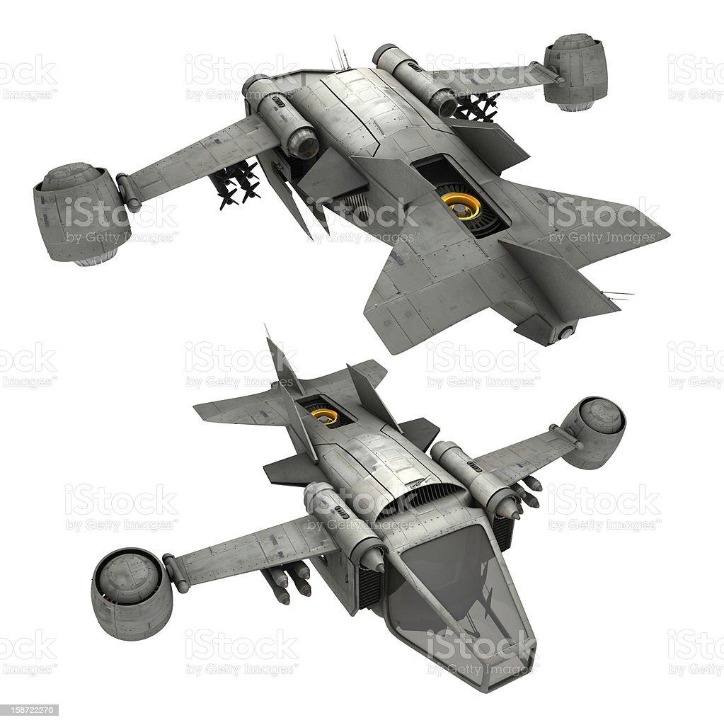 Futuristic Fighter Jet stock photo