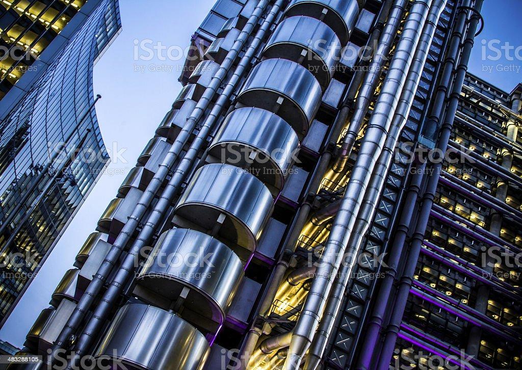 Futuristic Finance District stock photo