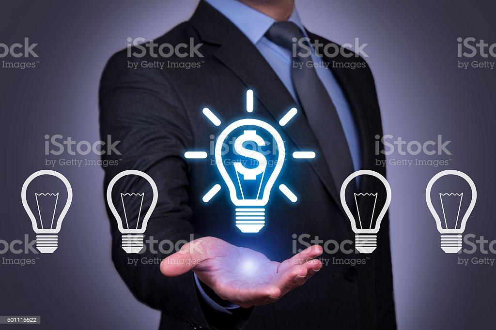 Futuristic Finance Idea Connection stock photo