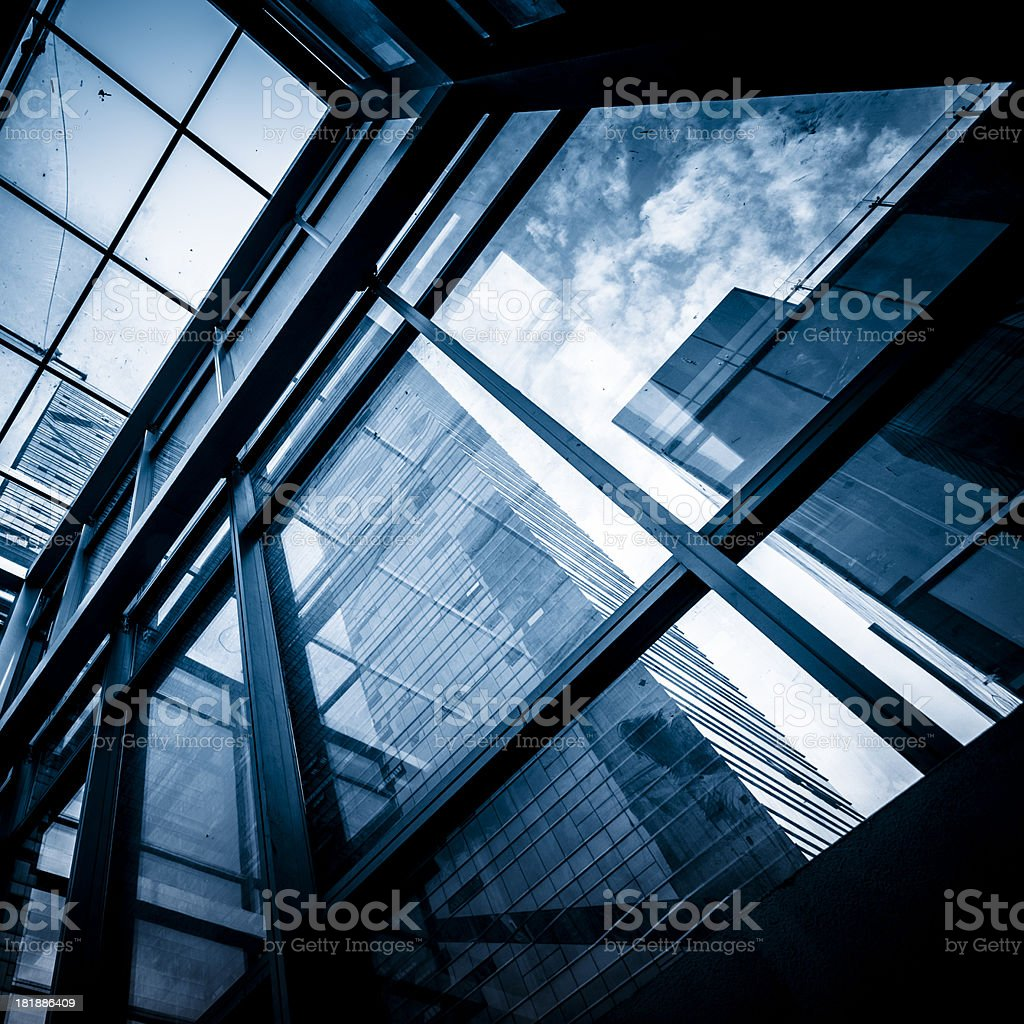 Futuristic financial distric royalty-free stock photo