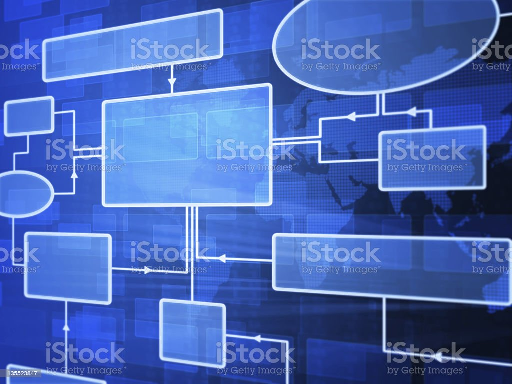 Futuristic flowchart stock photo