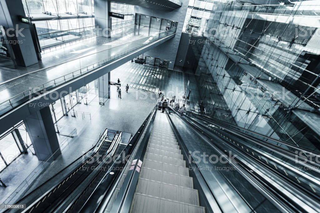 Futuristic Glass Architecture in Singapore Airport royalty-free stock photo