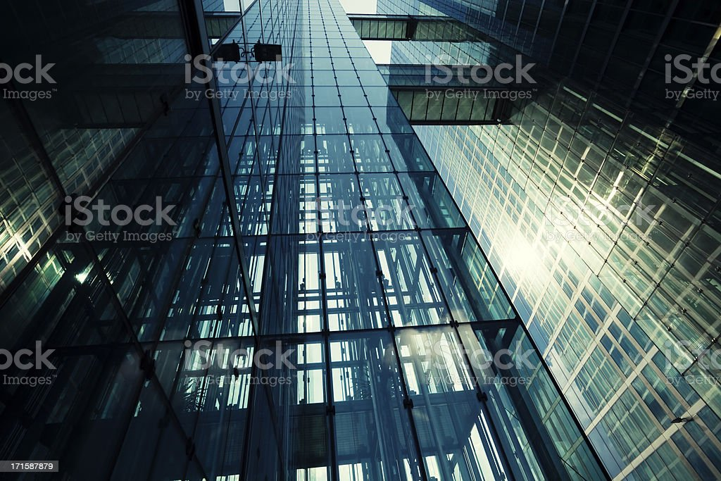 Futuristic Glass Architecture in Sunlight royalty-free stock photo