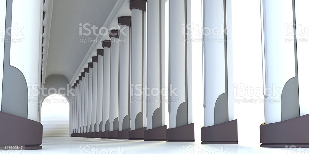 Futuristic Hallway royalty-free stock photo