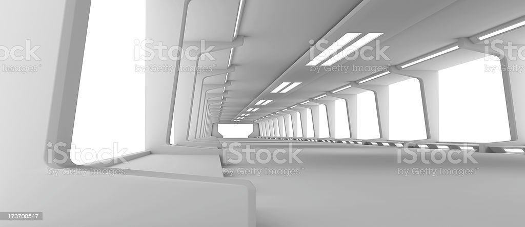 Futuristic Hallway royalty-free stock photo