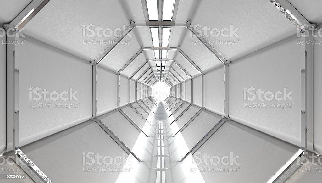 Futuristic Hallway stock photo