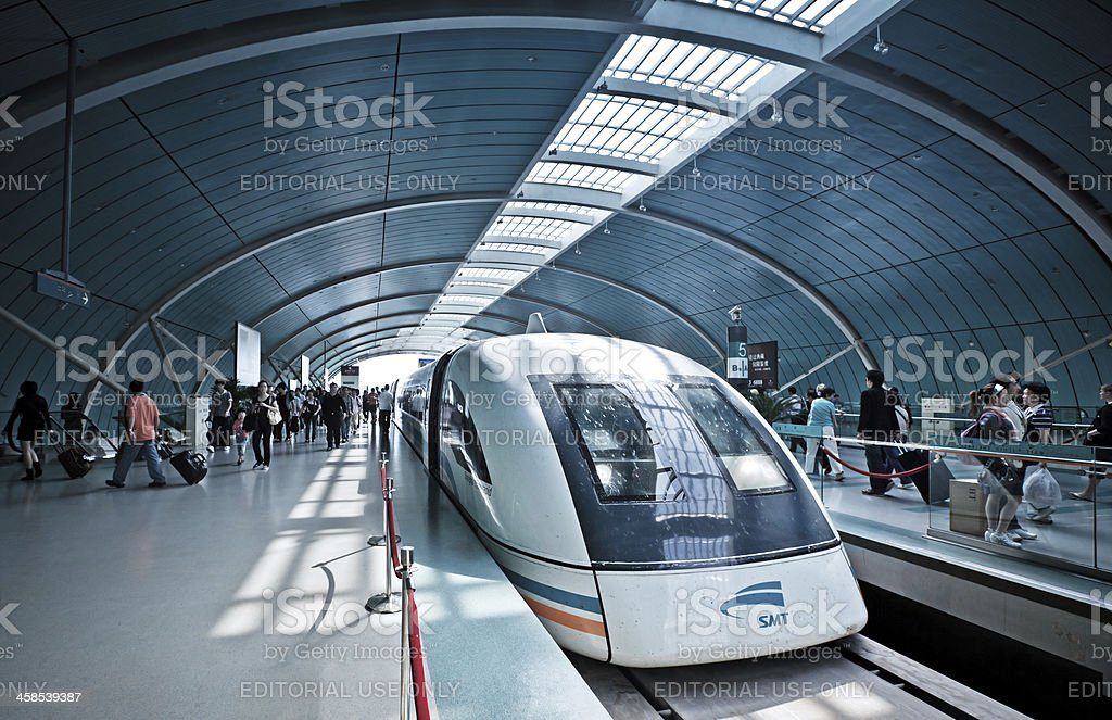 Futuristic high-speed train in China royalty-free stock photo