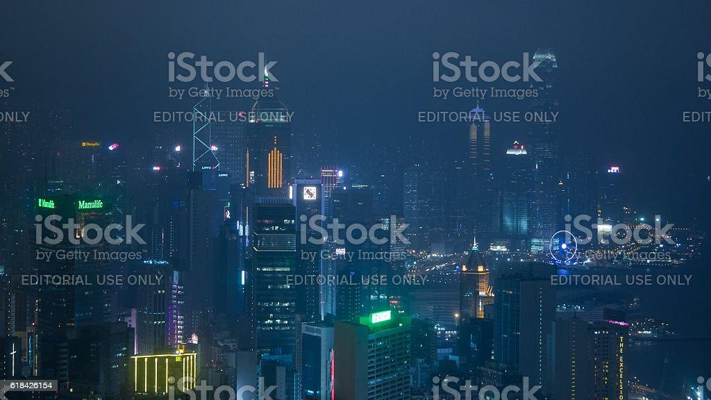 Futuristic Hong Kong stock photo