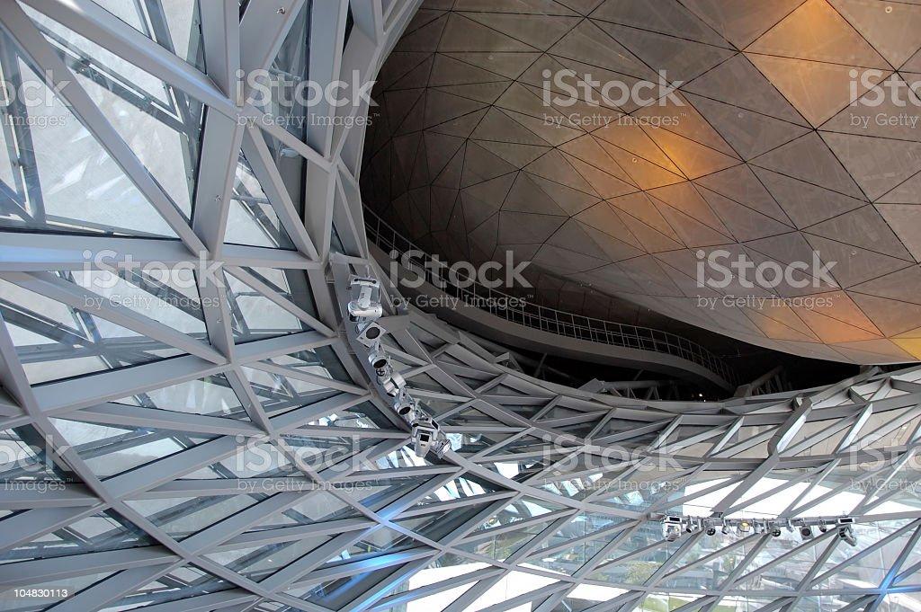 Futuristic indoor design stock photo