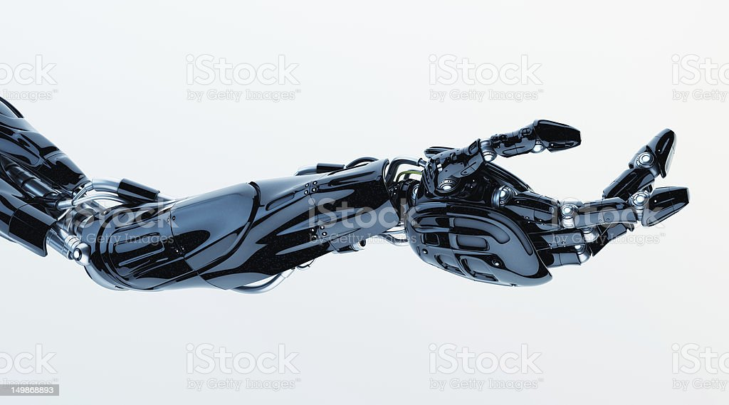 Futuristic innovation - artificial arm stock photo