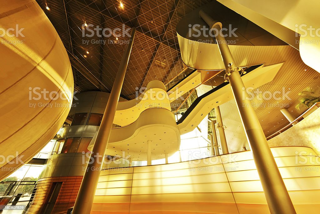Futuristic Interior Architecture royalty-free stock photo