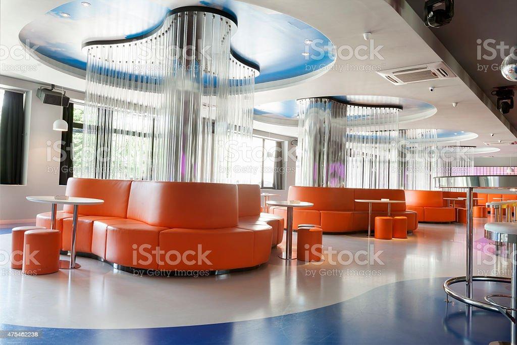 Futuristic Interior of disco club stock photo