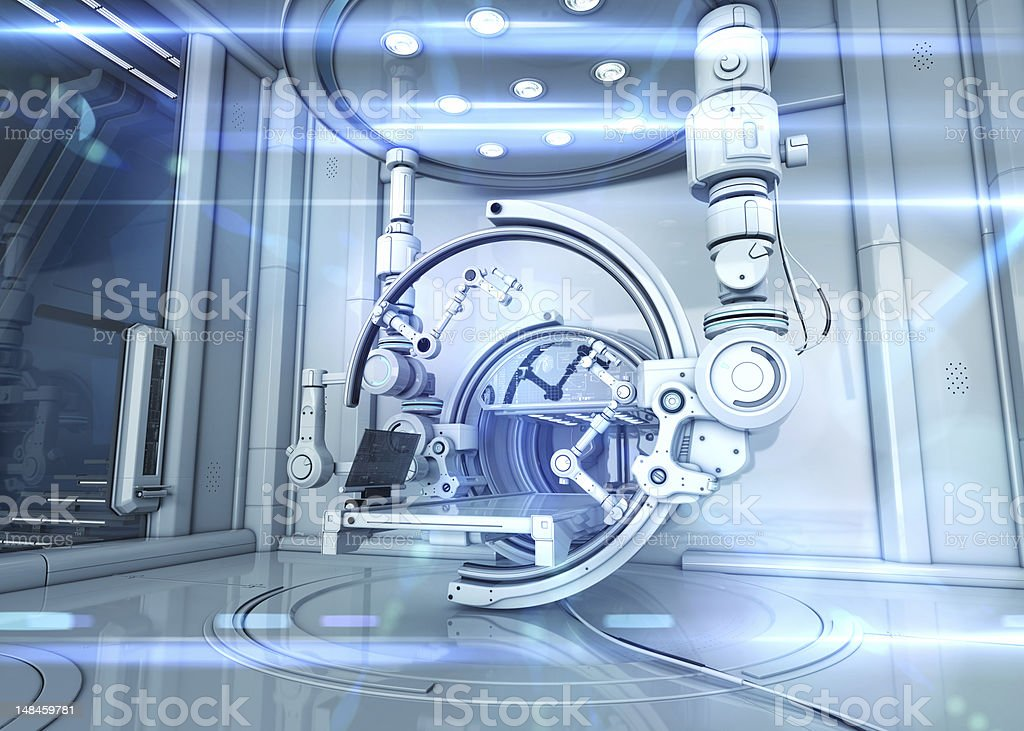 Futuristic Lab stock photo