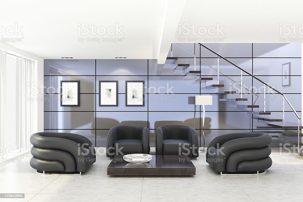 Futuristic Living Room royalty-free stock photo