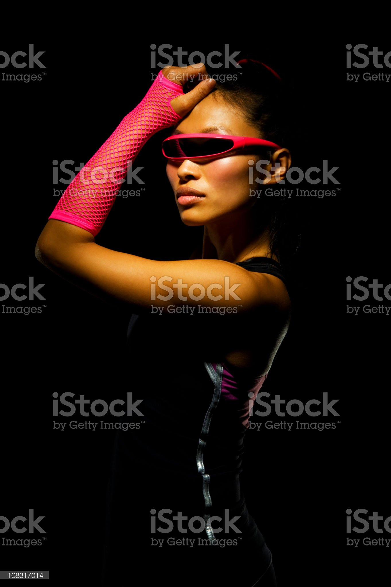 Futuristic Looking woman royalty-free stock photo