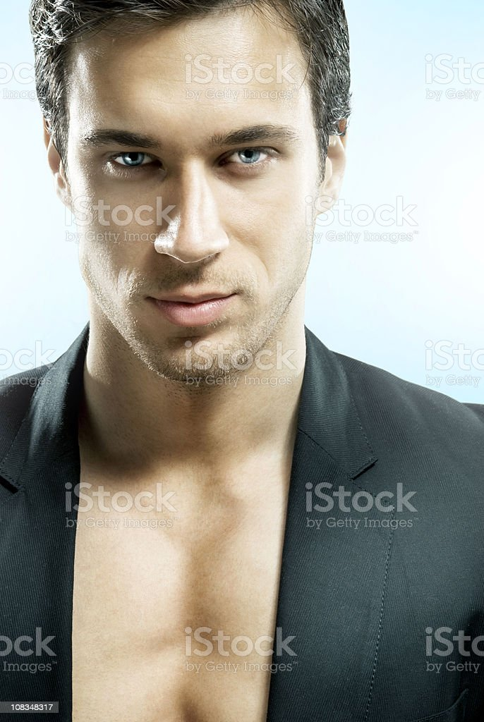 Futuristic man royalty-free stock photo