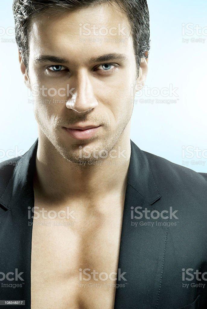Futuristic man stock photo