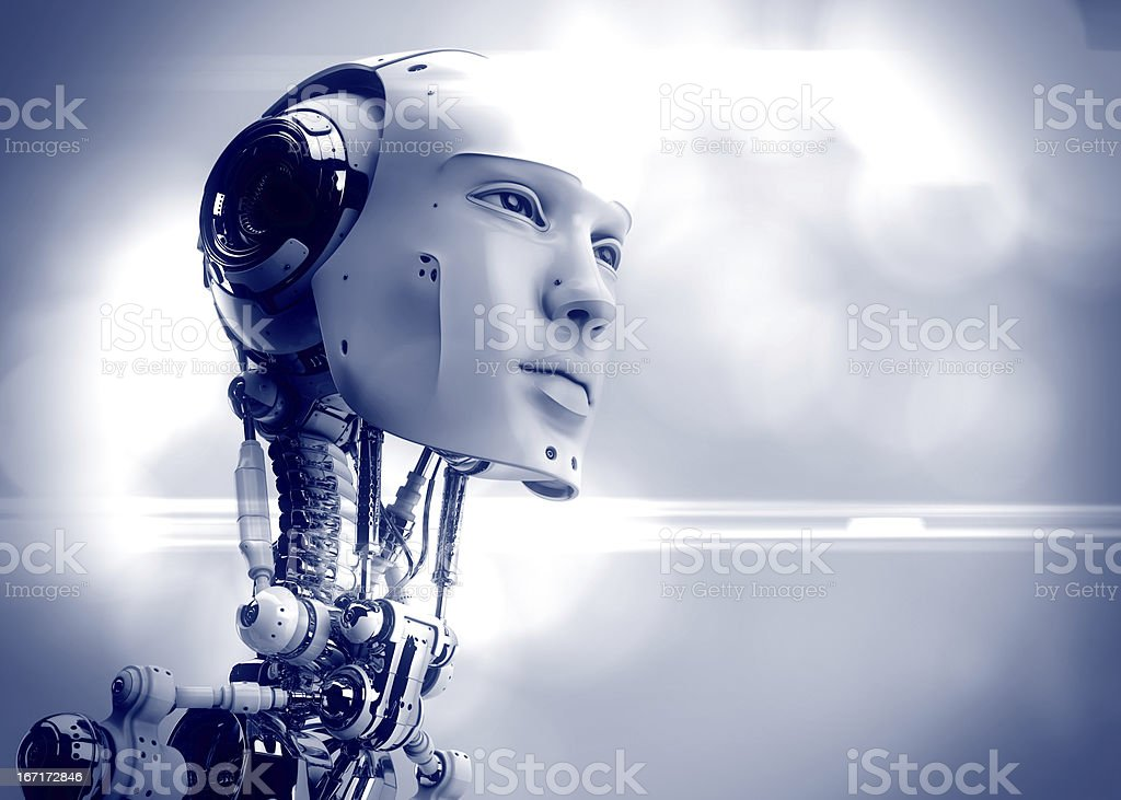 Futuristic man royalty-free stock photo