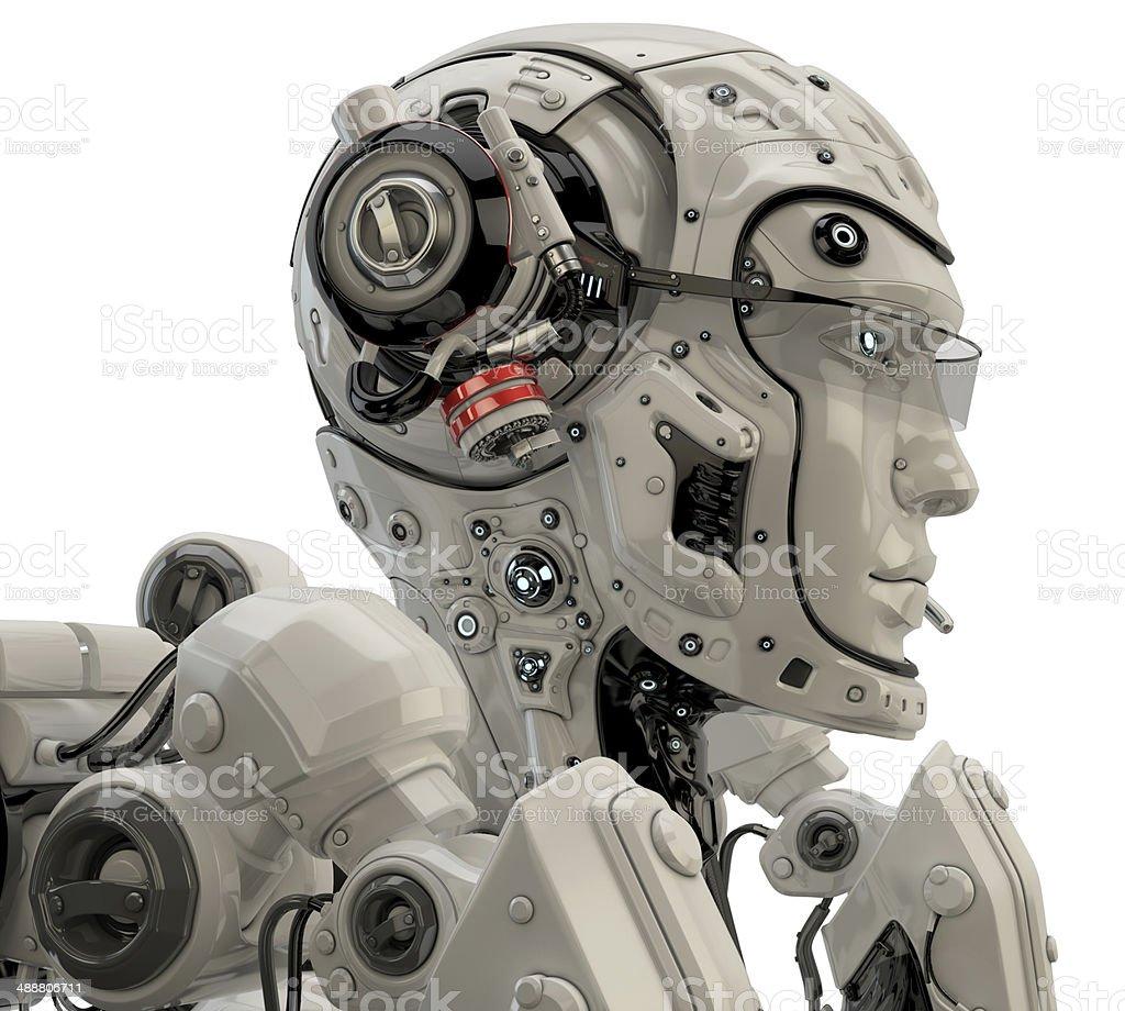 Futuristic medical worker stock photo