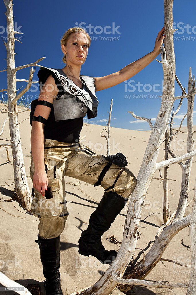 Futuristic Military Warrior royalty-free stock photo