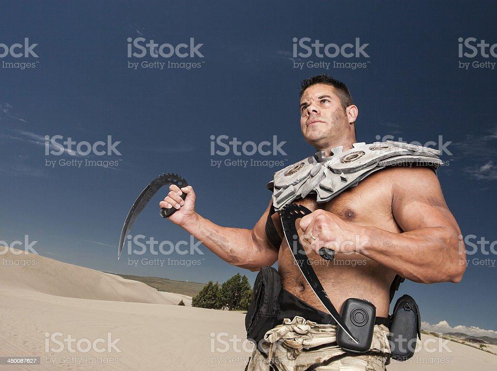 Futuristic Military Warrior royalty-free stock photo
