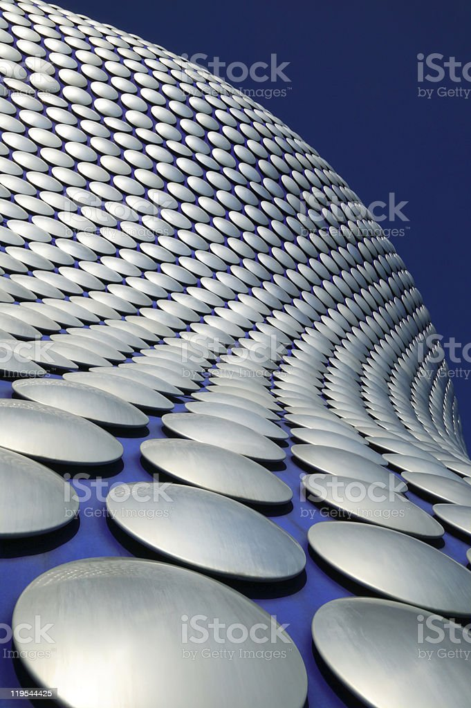 Futuristic Modern Building, Birmingham, UK royalty-free stock photo