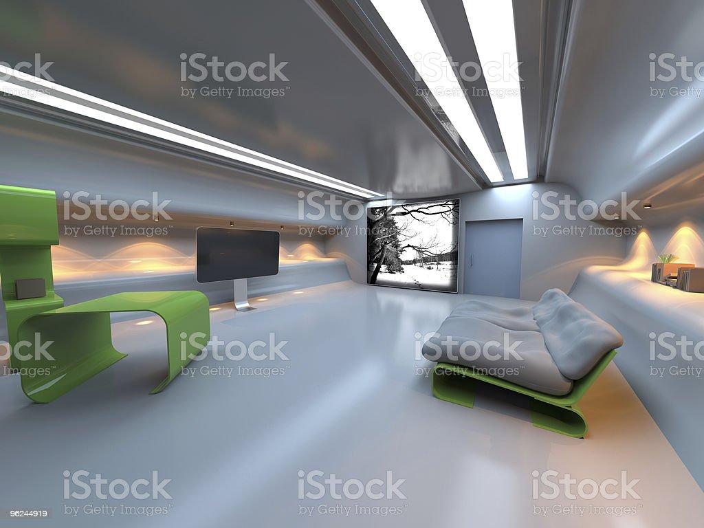 Futuristic modern interior stock photo