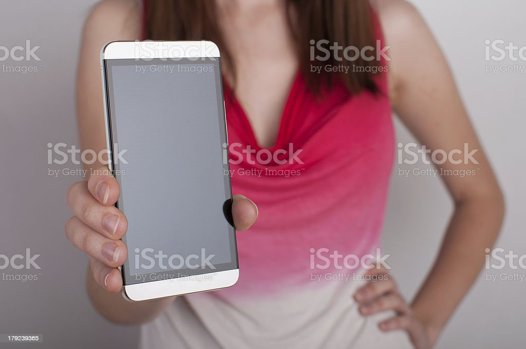 Futuristic new phone royalty-free stock photo