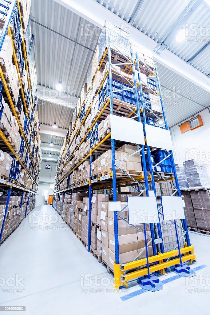 Futuristic new warehouse centre stock photo