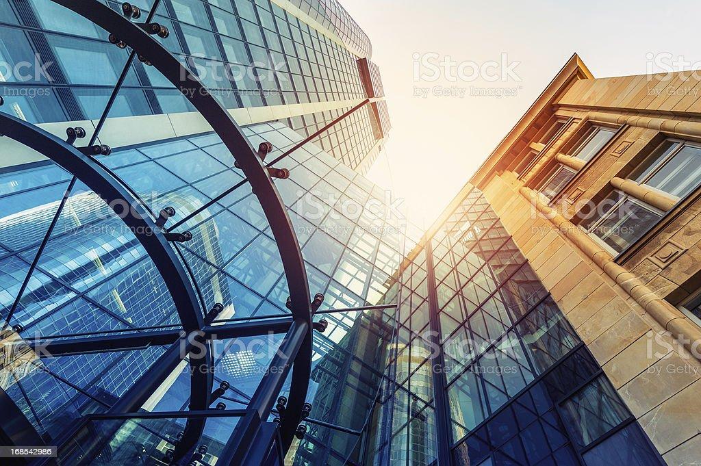 Futuristic office building stock photo