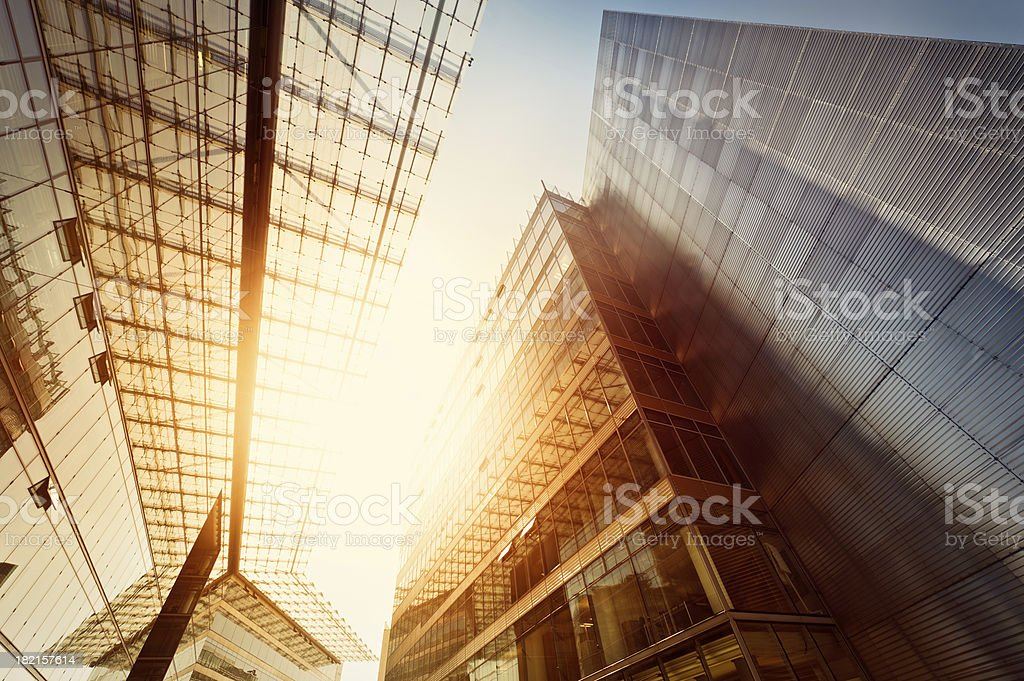 Futuristic office building stock photo