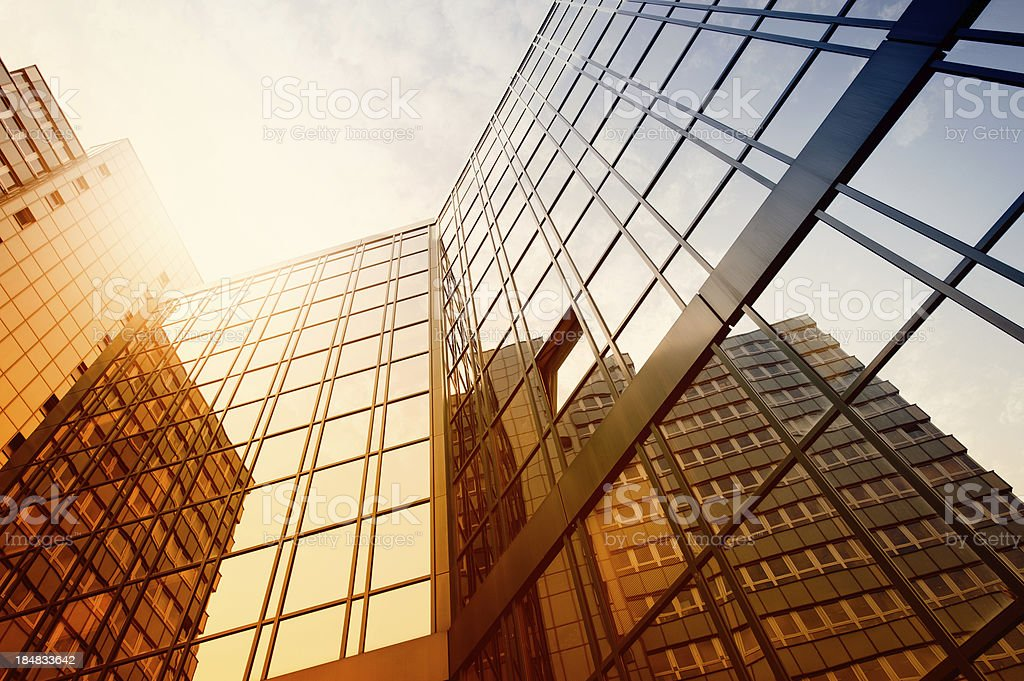 Futuristic office building royalty-free stock photo
