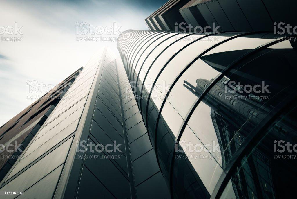 Futuristic office building staircase royalty-free stock photo
