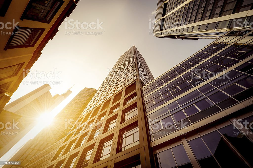 Futuristic office buildings stock photo