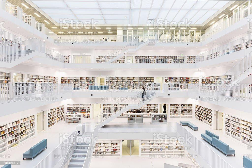 Futuristic Public Library royalty-free stock photo