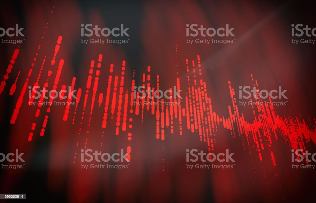 Futuristic pulse hud. Audio digital equalizer technology background (very high resolution) 3D stock photo
