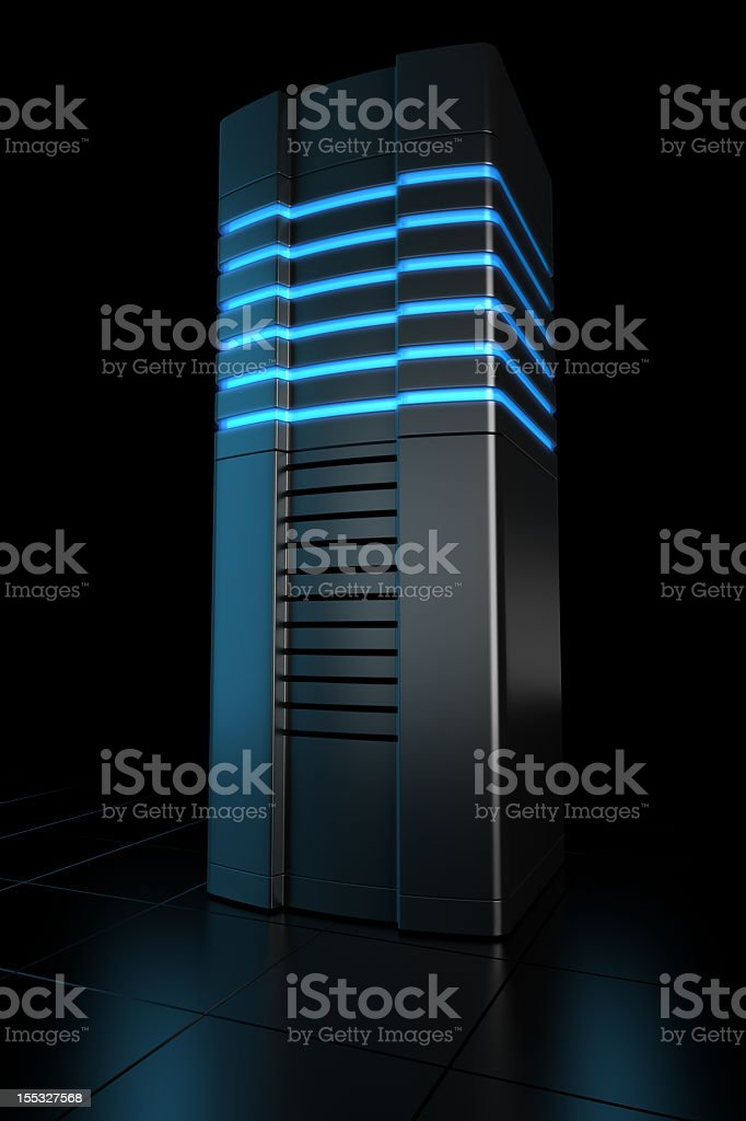 Futuristic rack server royalty-free stock photo