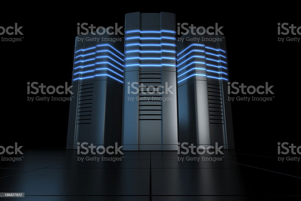 Futuristic rack servers royalty-free stock photo