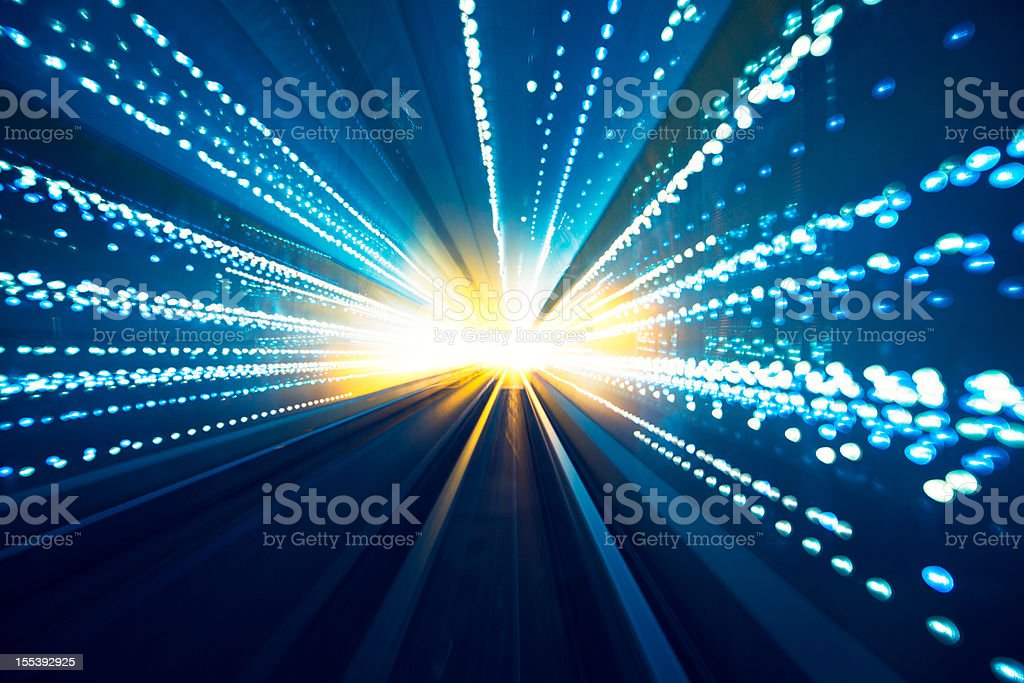 Futuristic railroad stock photo