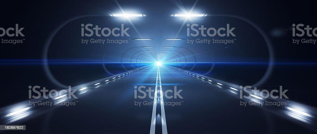 Futurista Road zoom horizonte plana de alta velocidade foto royalty-free
