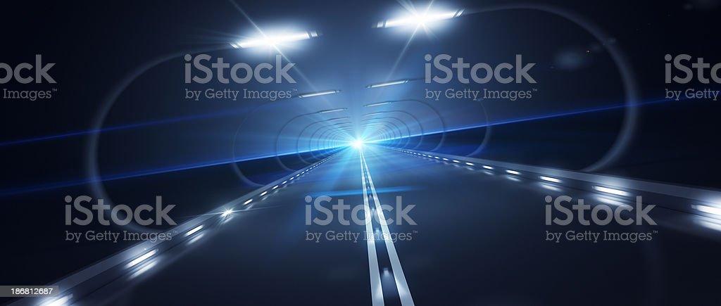 Futurista Road zoom de alta velocidade foto royalty-free