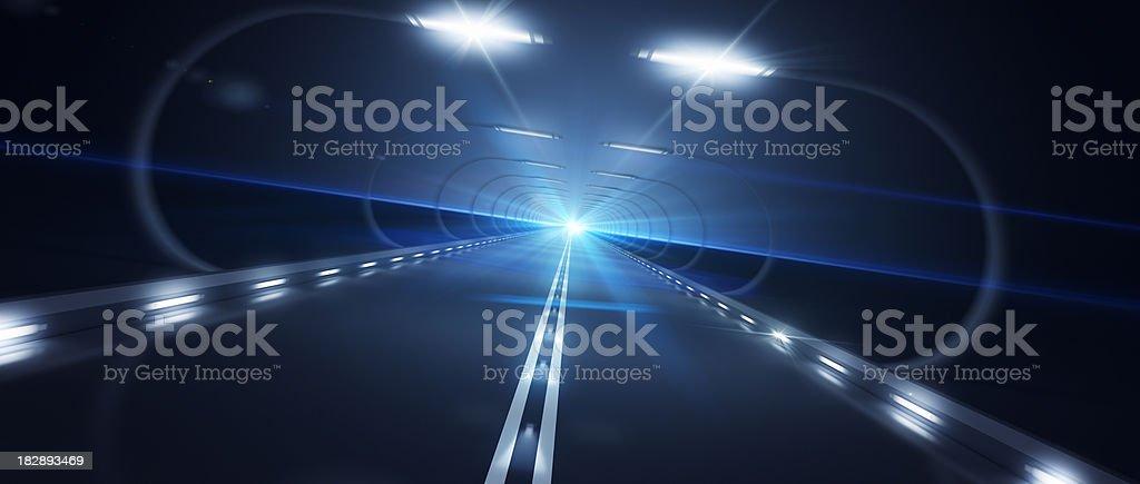 Futurista Road zoom velocidade inclinada da esquerda para a direita foto royalty-free