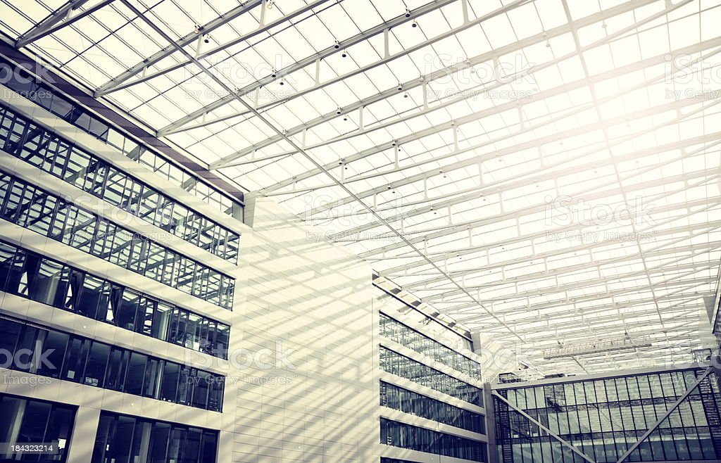 Futuristic roof in a modern hall royalty-free stock photo