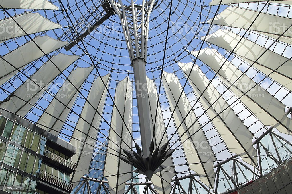 Futuristic Roof of the Sony Center in Berlin royalty-free stock photo