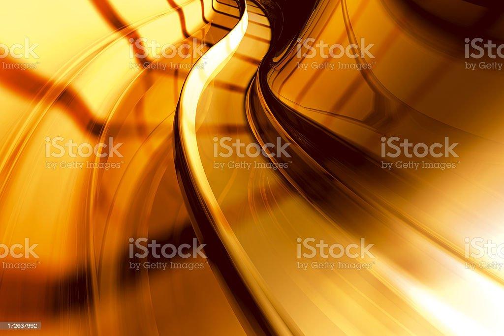 Futuristic S-Curve Orange royalty-free stock photo