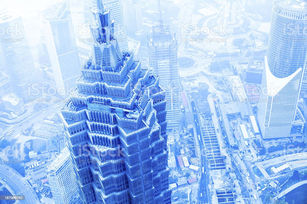 Futuristic Shanghai Cityscape, China royalty-free stock photo