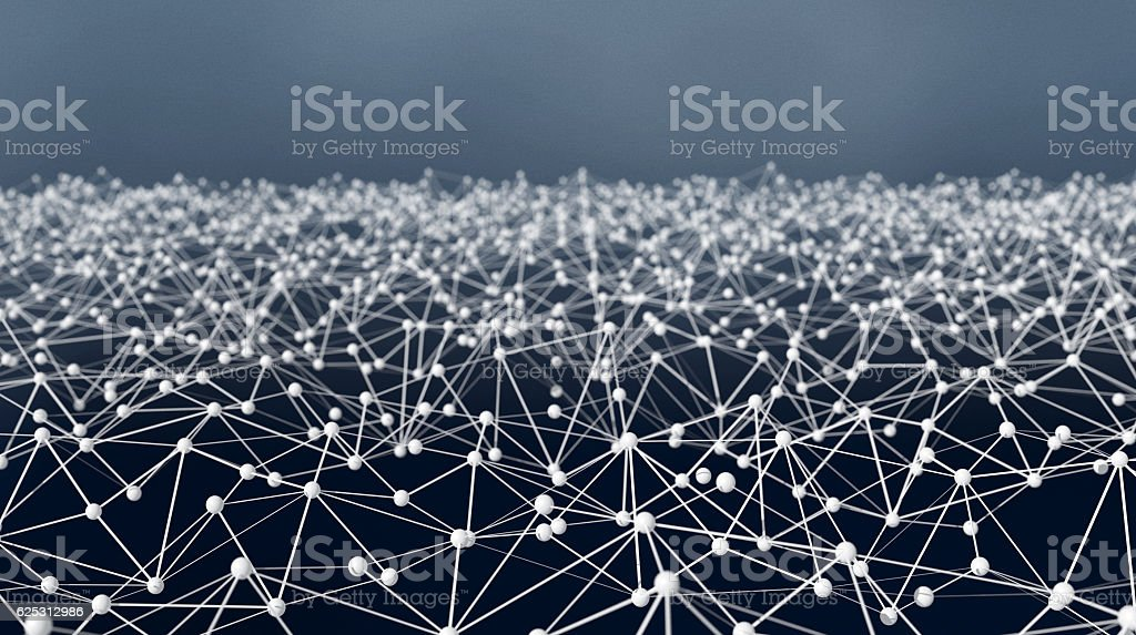 Futuristic Shape. Computer Generated Abstract Background stock photo