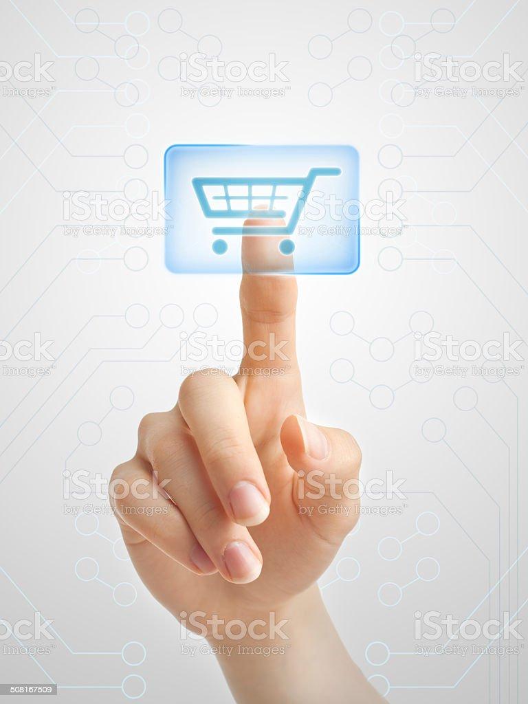 Futuristic shopping stock photo